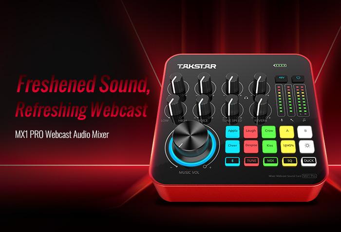 New Release | MX1 PRO Mixer Webcast Sound Card