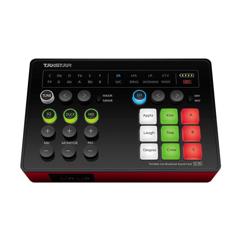 SC-M1 Sound card livestream di động